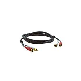 2xRCA, M/M, 0.6m 0.6m RCA RCA Negro cable de audio