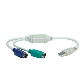 NX120200103 PS/2 USB Blanco adaptador de cable
