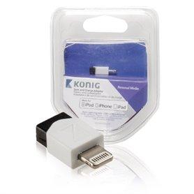 KNM39901W 8 pines USB-2.0 Micro-B Blanco adaptador de cable