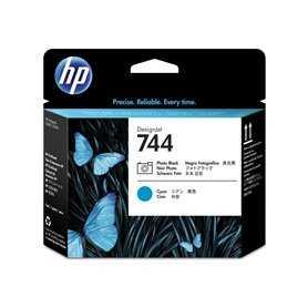 HP - Cabezal de impresión DesignJet 744 negro fotográfico/cian HP Cabezas De Impresora