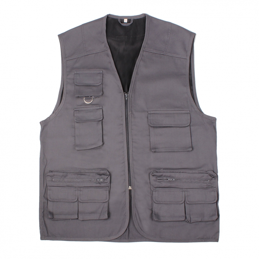 WORK WAISTCOAT MULTI-POCKET UNIFORM INDUSTRIAL WORKSHOP MECHANIC TECHNICIAN PLUMBER BRICKLAYER Ref.874