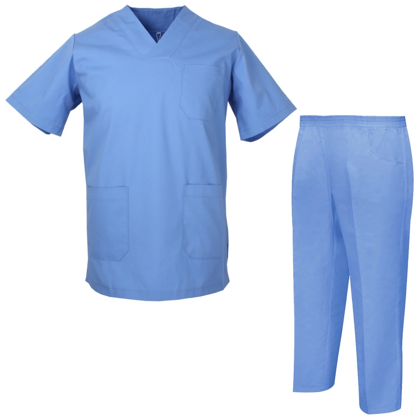 Uniforms Unisex Scrub Set – Medical Uniform with Scrub Top and Pants - Ref.8178
