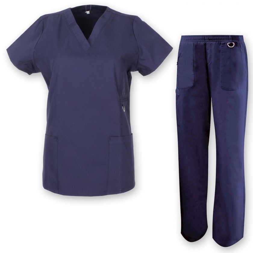 UNIFORMS Unisex Scrub Set – Medical Uniform with Top and Pants Ref.7078
