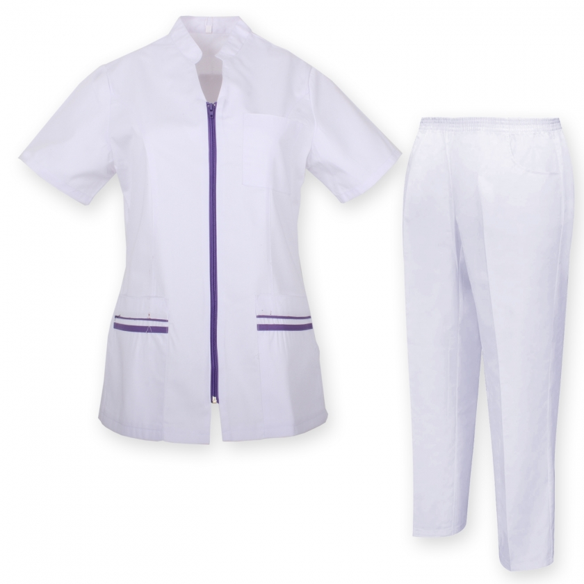 WORK CLOTHES LADY SHORT SLEEVES UNIFORMS Unisex Scrub Set – Medical Uniform with Top and Pants - Ref.7028 MISEMIYA Sanidad,Es...