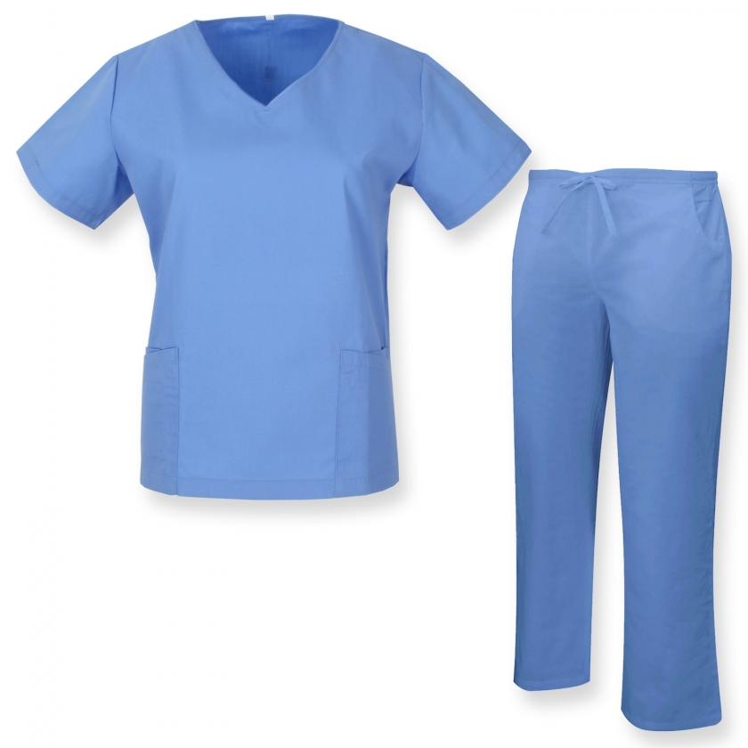 Uniformi Mediche Camice Uniformi sanitarie OSPITALIT/Á MISEMIYA X-Large Ref.7018 Uniforme Medica con Camice e Pantaloni Bianco