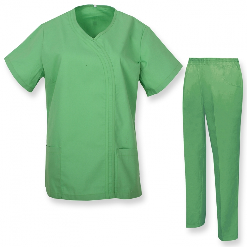 WORK CLOTHES LADY SHORT SLEEVES UNIFORMS Unisex Scrub Set – Medical Uniform with Top and Pants - Ref.Q81198