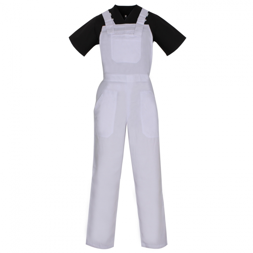 WORK BIB OVERALLS WITH SUSPENDERS UNIFORM INDUSTRIAL WORKSHOP MECHANIC TECHNICIAN PLUMBER BRICKLAYER - Ref.879