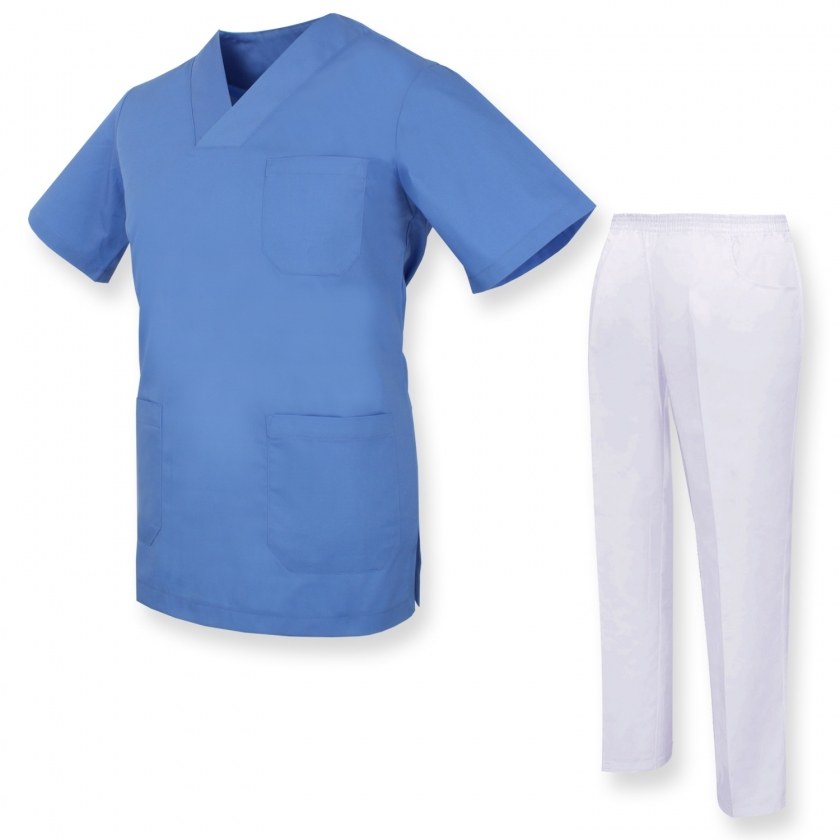 Uniforms Unisex Scrub Set – Medical Uniform with Scrub Top and Pants - Ref.81782 MISEMIYA Sanidad,Estética y Limpieza