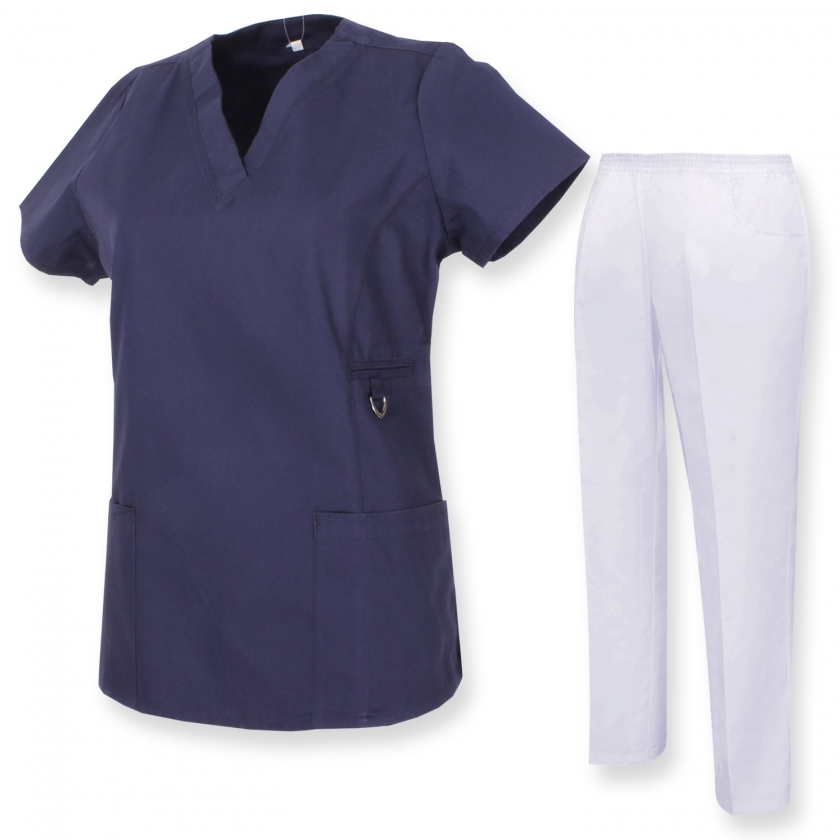 Uniforms Unisex Scrub Set – Medical Uniform with Scrub Top and Pants - Ref.70782 MISEMIYA Sanidad,Estética y Limpieza