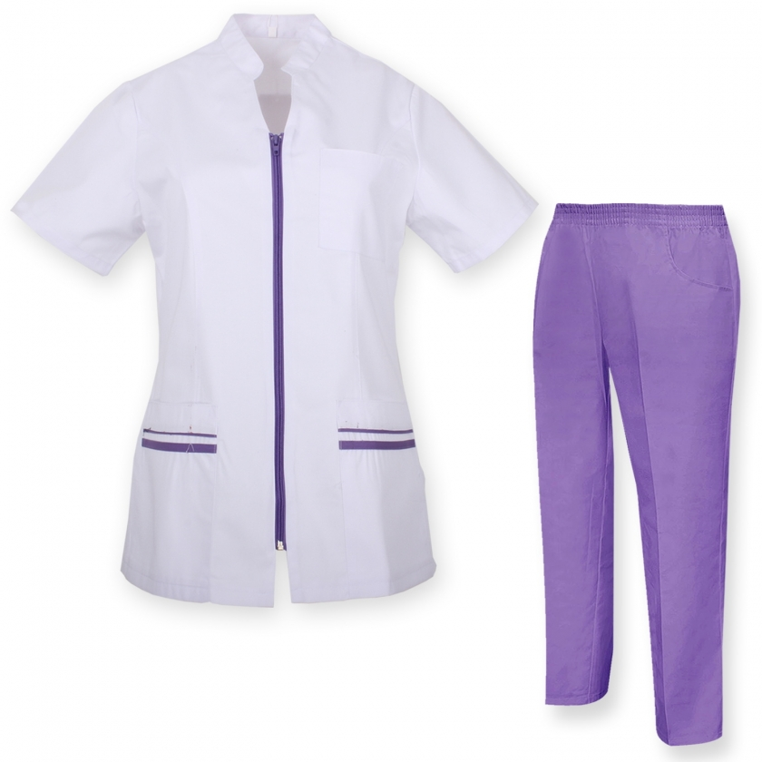 WORK CLOTHES LADY SHORT SLEEVES UNIFORMS Unisex Scrub Set – Medical Uniform with Top and Pants - Ref.70288 MISEMIYA Sanidad,E...