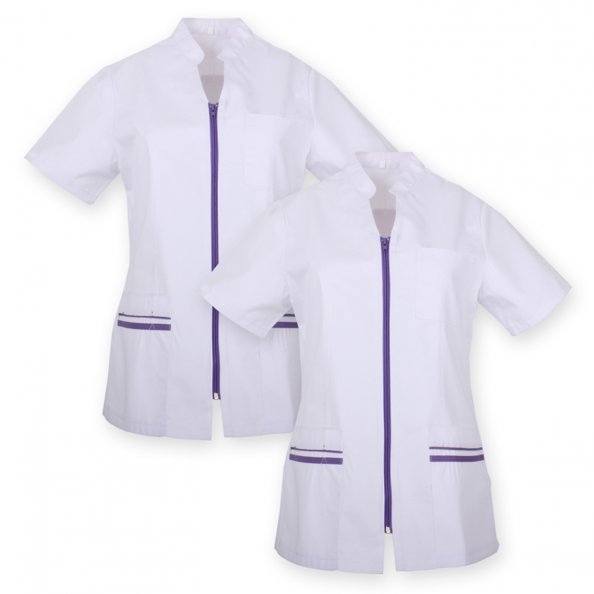 Pack*2 - WORK CLOTHES LADY SHORT SLEEVES Medical Uniforms Scrub Top - Ref.702 MISEMIYA Sanidad,Estética y Limpieza