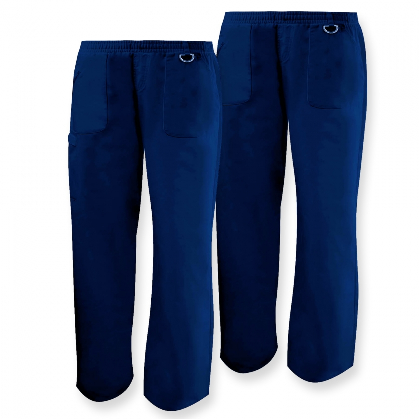 Set of 2 - WORK PANTS LADY UNIFORM CLINIC HOSPITAL CLEANING VETERINARY SANITATION HOSTELRY Ref.Q708